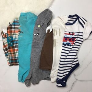 🎉Bundle baby boy bodysuits overalls shorts B5